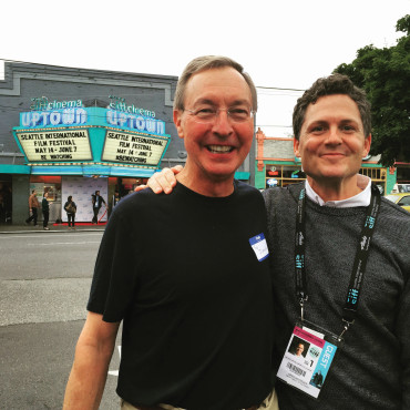 FESTIVAL KINGS: Ted Dintersmith '74 and Greg Whitely at the Seattle International Film Festival