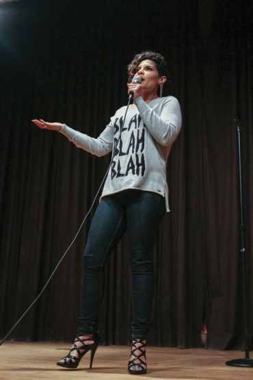 HEADLINER: Isaura Ramirez participated in the program's Comedy Boot Camp this past spring.