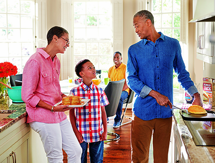 The J.M. Smucker Company's vision for corporate responsibility includes encouraging families to spend quality time together over meals.