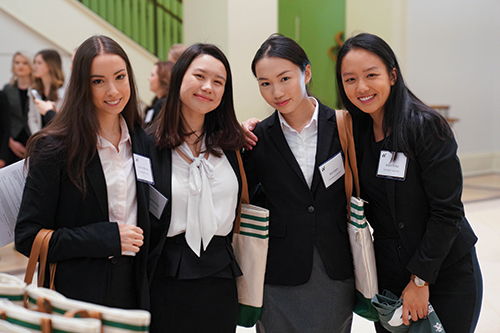 Perfect Pitch: Student teams from around the world competed in the Women's Stock Pitch competition.