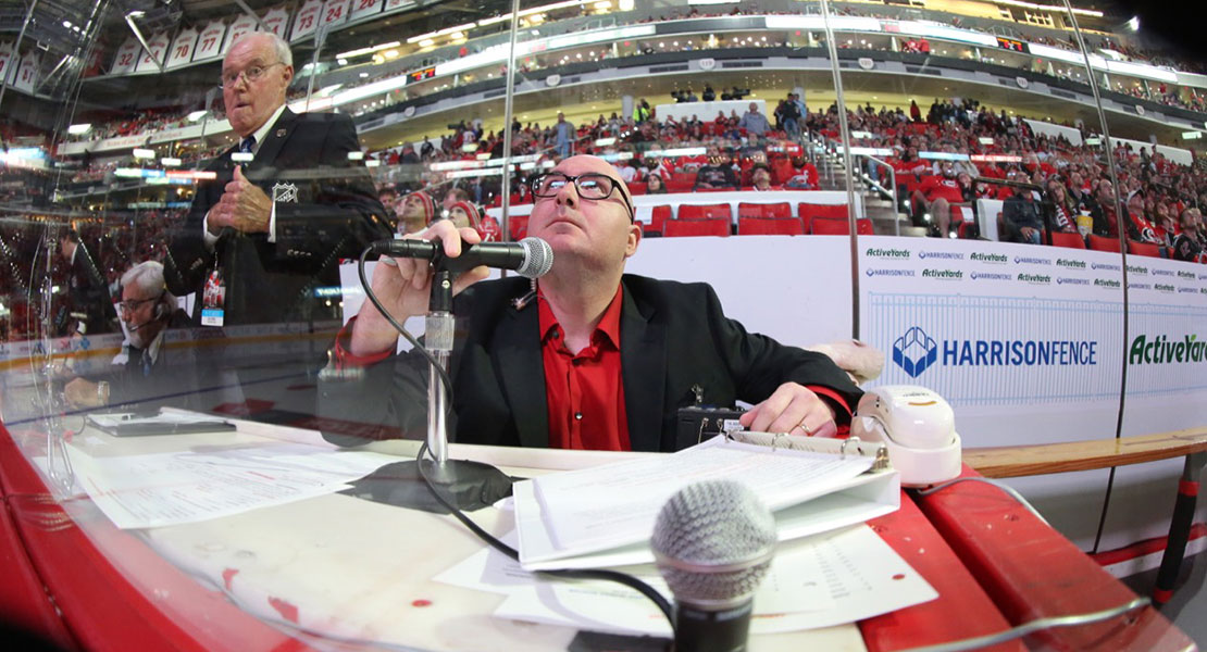 From Carolina Hurricanes fan to announcer